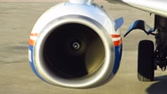 Stock Video Footage of Working Jet engine passenger aircraft Boeing