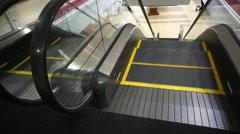 Escalator Top Entrance Handheld Stock Footage