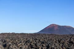 Volcano in timanfaya national park in Lanzarote Kuvituskuvat