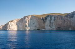 Beutiful cliff coast of Zakynthos Island Stock Photos