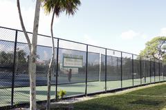 Holiday Park Jimmy Evert Tennis Center - stock photo