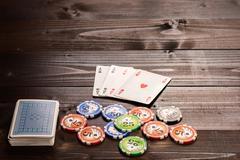 Poker ace Stock Photos