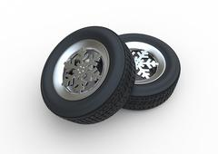 Snowflake Winter Tyre - stock illustration