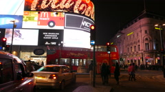 Piccadilly Circus Night Timelapse - The Curve Stock Footage