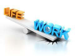 Work life balance Stock Illustration
