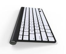 Black keyboard - usb side, on white background, ideal for digital and print d - stock illustration