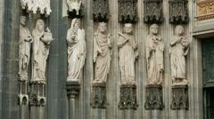 Stock Video Footage of 4K UHD Cologne Köln Kölner Dom exterior architectural detail