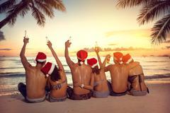 Christmas holiday on tropical vacation Kuvituskuvat
