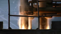 Smoke from electric arc furnace Stock Footage