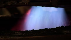 Fire melting steel in electric arc furnace - stock footage