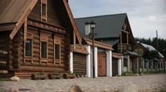 russian backwoods old village - stock footage