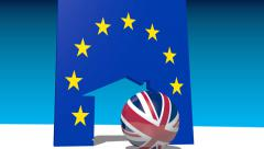 Great Britain and European Union politic relations Stock Footage