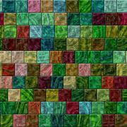 Seamless colorful glass tiles texture in saturated colors - stock illustration
