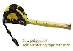 Low polygonal self-retracting tape measure - stock illustration