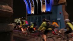 Tower Bridge Night Traffic Stock Footage
