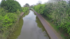 Small canal and path Stock Footage