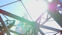 Chicago bridge and sunflair Stock Footage
