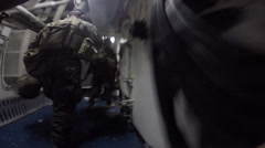 Marines In Action - stock footage