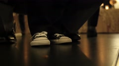 Dance floor kids shoes Stock Footage