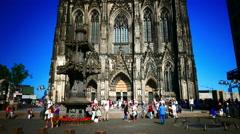 4K UHD Cologne Köln Kölner Dom exterior architectural detail Stock Footage