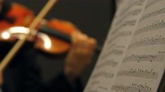 Violin and music tight shot Stock Footage