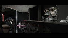 Nice professional bar/lounge Stock Footage