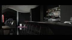 nice professional bar/lounge - stock footage