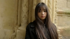 depressed young adult asian woman: sadness, depression, loneliness  - stock footage