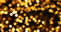Yellow bokeh lights christmas background Stock Footage