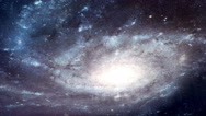 Stock Video Footage of 4K Space Galaxy Low Angle