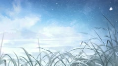 Cold Crisp Frost Covered Winter Day - stock footage