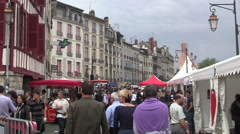Bayonne - Crowds at the Annual Ham Festival Stock Footage