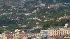 Capri - Wide Shot of Capri Island Zoom Out Stock Footage