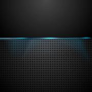 Stock Illustration of Dark perforated background with blue glow light