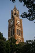 Rajabai Clock Tower in Mumbai Bombay India - stock photo