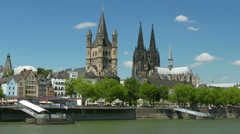 4K UHD POV Skyline Cologne Köln Kölner Dom Cathedral Stock Footage