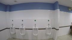 Man Peeing in Toilet Stock Footage