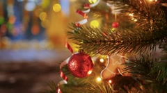Christmas decoration on the tree Stock Footage