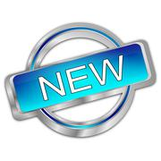 New Button Stock Illustration