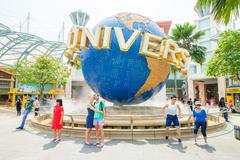 Stock Photo of SINGAPORE - November 7: Tourists and theme park visitors Attraction in Univer