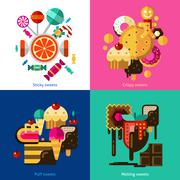 Sweets And Candies Icons Set Stock Illustration