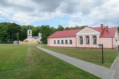 Orel, Russia - August 19, 2015: The entrance to the museum-estate Ivan Turgen Stock Photos