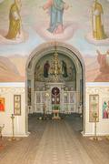 Interior of the church at the museum-estate of Ivan Turgenev Stock Photos