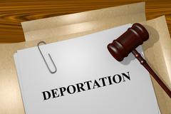 Deportation concept - stock illustration