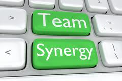 Team Synergy concept - stock illustration