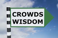 Crowds Wisdom concept - stock illustration