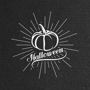 Halloween Pumpkin. Holiday Vector Illustration. Stock Illustration