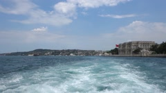 Cruising in the Bosphorus Strait in Istanbul Turkey. Slow motion. Stock Footage