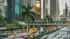 Traffic in Asian City Honkong - stock footage
