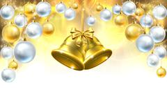 Christmas Bells Decorations Background Piirros